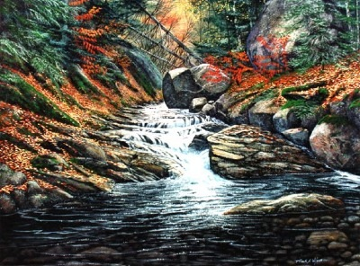Autumn Brook oil painting by Frank Wilson