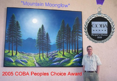 Mountain Moonglow outdoor Mural by Frank Wilson